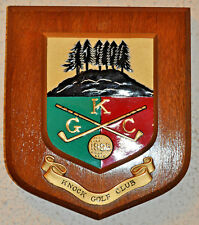 Knock Golf Club wall plaque shield crest coat of arms