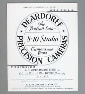 Deardorff 8x10 Studio Camera Catalog 1964 Original Literature