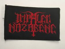 IMPALED NAZARENE BLACK METAL WOVEN PATCH