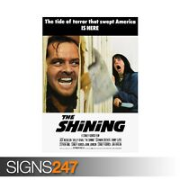 THE SHINING CLASSIC 80S (ZZ050)  MOVIE POSTER Poster Print Art A0 A1 A2 A3