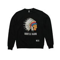 Mens Hustle Gang 8 Bit Crew Neck Sweatshirt Black