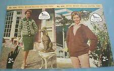 Vintage Patons Knitting Patterns Sweaters Suit Hats Wraps / Shawls