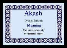 Akash nome personalizzato significato MOUSEMAT