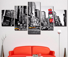 Black and White New York City  5 Pcs Canvas Wall Art Print Picture Home Decor