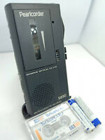 Olympus Pearlcorder S830 MicroCassette Voice Recorder Dictaphone Dictation BLACK