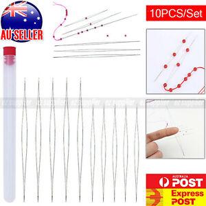 10PC Eye Beading Needles Easy Threading Tool for Bracelet Jewelry Making HOT