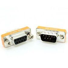 Brand New Mini Null Modem DB9 Female to DB9 Male plug Adapter Gender Changer