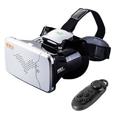 VR Virtual Reality Goggles 3D TV Movie Glasses with Bluetooth Remote Control