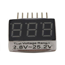 For RC Lipo Battery Low Voltage Alarm 1S-6S Buzzer Indicator Checker Tester LED