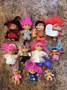 Vintage Russ Troll Dolls 11 Piece Toy Lot