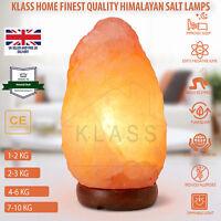 1-10Kg Natural Himalayan Pink Salt Lamp Night Desk Salt Lamps UK CE Plug Cable