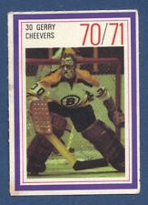 #30 GERRY CHEEVERS 70/71 Esso NHL Power Player Boston Bruins