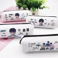 Kpop BTS Bangtan Boys Pencil Bag Case Makeup Bag School Stationery JK JIMIN RM