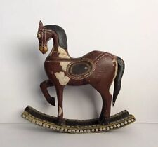 Large Vintage (Estate) Handcrafted Painted Wooden Rocking Horse Figure Toys