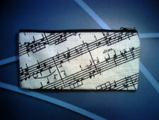 Jute Pencil Case - music stave design