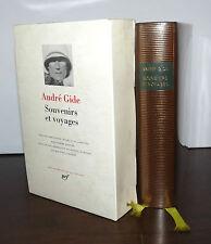 LA PLEIADE - ANDRE GIDE : SOUVENIRS ET VOYAGES - 2001 GALLIMARD