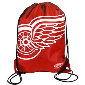 Detroit Red Wings Back Pack/Sack Drawstring Bag/Tote NHL backpack BIG LOGO