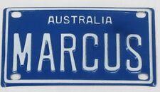 MARCUS NOVELTY NAME MINI TIN AUSTRALIAN LICENSE NUMBER PLATE