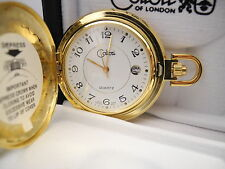 Watch/ Date New As-Is Reduced Colibri White Face Goldtone Pocket