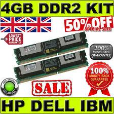 HP DELL KINGSTON MEMORY 4GB KIT (2 x 2GB) 2Rx4 PC2-5300F ECC KVR667D2D4F5K2/4G
