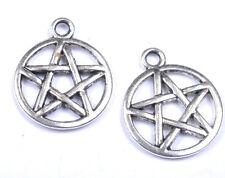 FREE SHIP 20pcs Tibetan silver Star pendants findings SH373