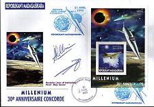 5289+ CONCORDE 30 ANS ANNIVERSAIRE 1er VOL-  MILLENIUM  BLOC MADAGASKIRA DENTELE