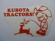 KUBOTA pee kid decal MOWER plow tractor pull pulling STICKER trailer parts