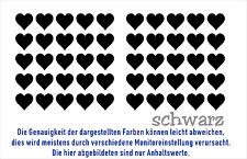 Herzen Aufkleber Schwarz oder Weiß im Set Sticker Deko Herzchen Mengenrabatte