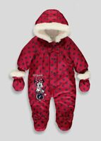 Disney Minnie Mouse Red Baby Snowsuit 3-6 Months Winter  Birthday BNWT Christmas
