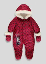 Disney Minnie Mouse Red Baby Snowsuit 3-6 Months Winter Free P&P BNWT Christmas
