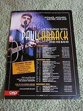 PAUL CARRACK ~ AUTOGRAPHED ~ Tour UK Poster 2004!