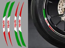 "4 X STICKERS ITALIE ROUE JANTE 17"" APRILIA AUTOCOLLANT MOTO STICKER RA087AP"
