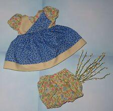 "Handmade Doll Clothes for 11"" - 13"" Baby Dolls - ""Grandma's Scraps"" Dress Set"