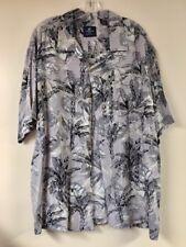 Caribbean Joe Mens Shirt Hawaiian Aloha Rayon Super soft XL EUC