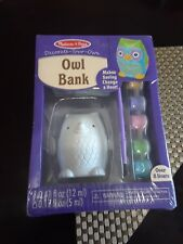 Melissa & Doug Decorate-Your-Own Owl Bank Craft Kit Wow Kids Artsy Neato Paint