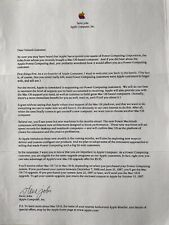 Apple Letter from Steve Jobs to Power Computing customers 1997