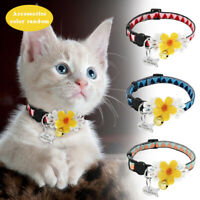 Floral Breakaway Personalized Cat Safety Collar with Engraved ID Tag & Free Bell