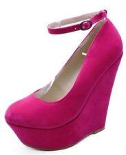 Scarpe da donna rosa zeppa da sera