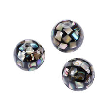 3PC Gorgeous Natural Abalone Shell Mop Ball Beads Loose Paua Shell Bead 10mm DIA