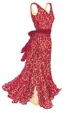 New J Peterman Red Lace Dress gown prom bridesmaid long v-neck 10 12 M L $198