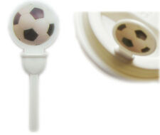 Coffee Cup Lid Sip Hole Plug Stopper  Stix To Go, Soccer Design Pack of 60