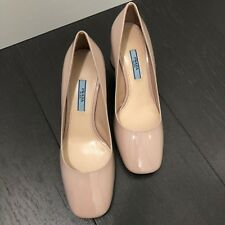 Brand New in Box - Prada Light Beige Patent Leather Pumps, Size 36 - $630
