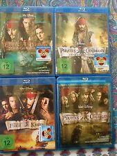4 Blu-ray discs  1.Fluch der Karibik, 2. Fluch der Karibik 2 3.Fluch der Karibi