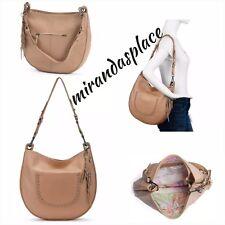 NEW The Sak Zinnia Sahara Tan Leather Hobo Shoulder Bag