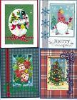 Handmade half VINTAGE CHRISTMAS CARDS #CV4-Lot of 4