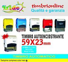 Timbro automatico 59x23mm Timbro autoinchiostrante  personalizzato + logo gratis