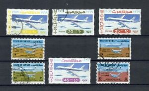 KUWAIT  POSTALLY USED SET OF AIRPLANES  STAMPS  LOT (KOWAIT 321)