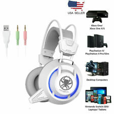 Gaming Headset Surround 3D LED Headphones Earmuffs for PS4 PC Mac Laptop NEW USA