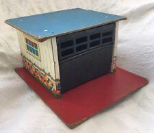 Vintage Tin Litho EAGLE Canada Toy Car GARAGE Play Set Display