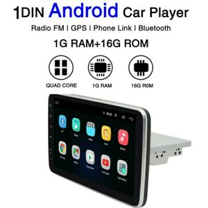 """1 Din Android 9.1 10.1"""" Car Radio GPS Navigation Wifi GPS Touch Screen"""